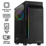 REBELPLAY® Gaming PC - Core i5 - GTX 1660 - 16GB RAM - 480GB SSD - RGB - WiFi_
